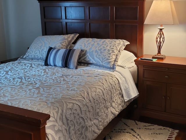 Comfortable mattress and bedding for a restful night sleep
