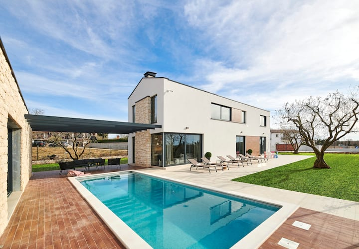 Modern Villa Ansi with a pool and wellness