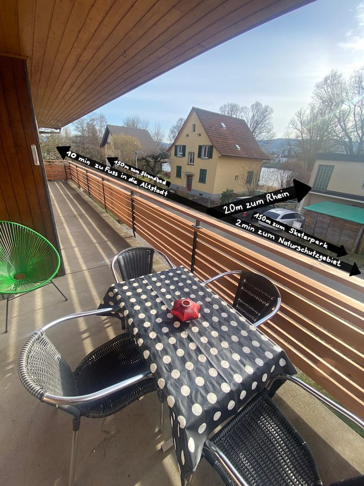 Group/familyhouse,garden,barbecue,20m to the Rhine