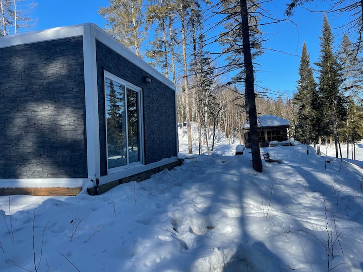 New Modern waterfront Bunkie on** 55 Acres**