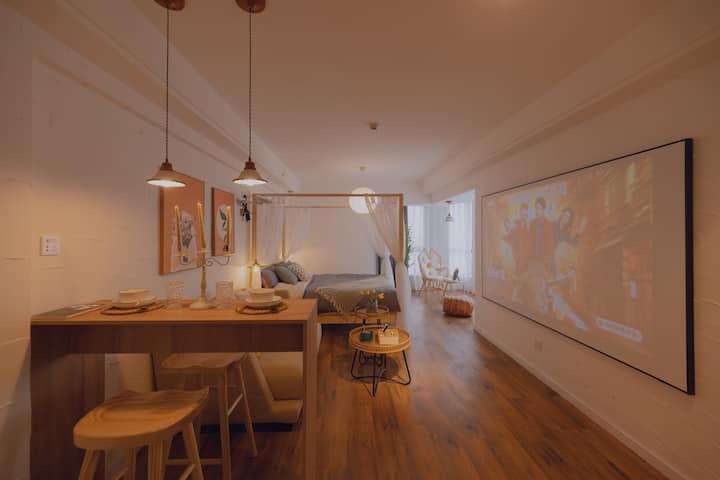 「抚子香」涧西区|投影房|王府井|落地窗|万达广场|长申国际|珠江路美食街|一居公寓|大床房