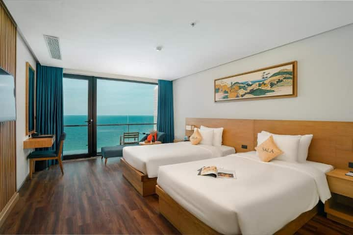 SalaDanangBeach|Sea View|Twin Room#Bathtub#Morden