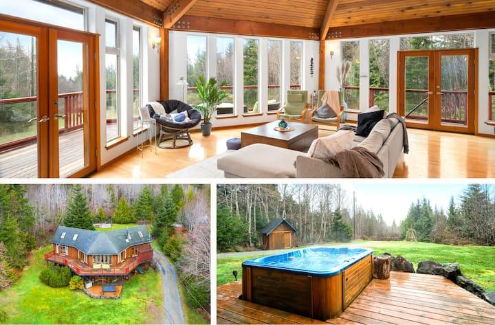 ✦NEW! Hot tub ♨ Cedar Coast Lodge —Coastal retreat