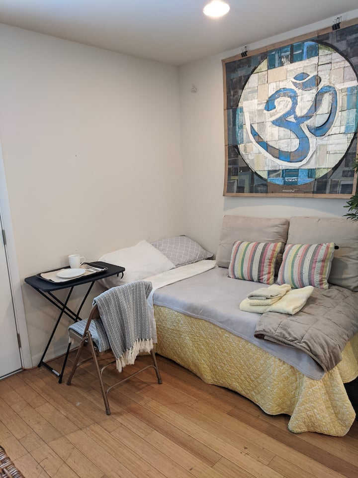 Twin Bed in Sangha Shared Suite