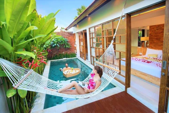MURAH BANGET! 1 Bedroom Private Pool Villa-CANGGU