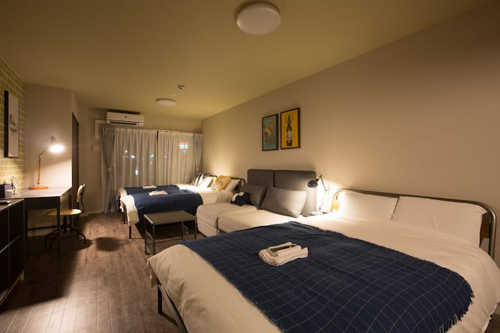 【New Open】8mins walk to Daikokucho st,5 pax,SN-C