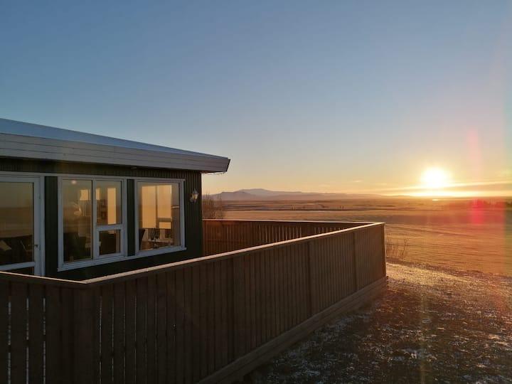 Villa with a view on a horse breeding farm