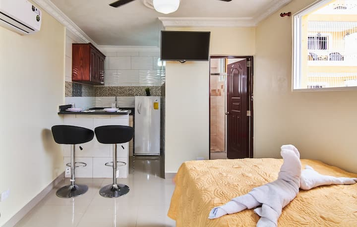 Comfort Studio For 2 Near Airports & Colonial Zone