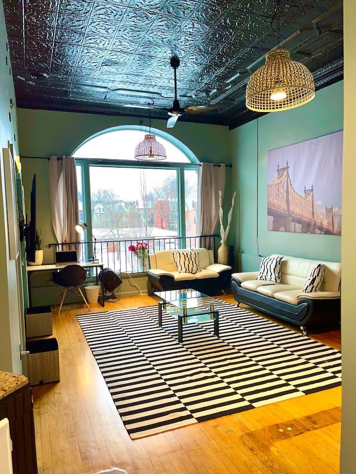 Central West End Historic Loft Cozy Modern Theme.