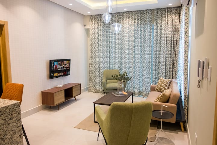 Acogedor apartamento y extraordinaria area social