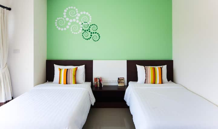 Tranquil Silver Twin Room at Phavina Hotel Rayong