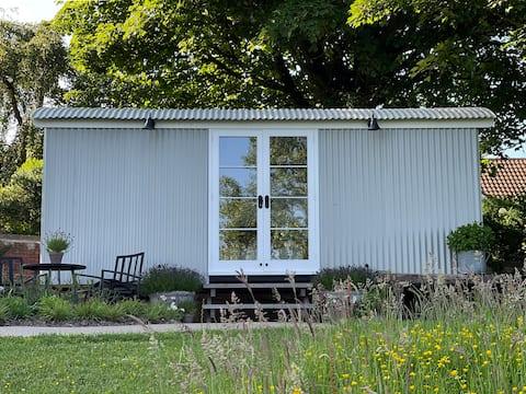 Shepherds hut in Durhams idyllic countryside