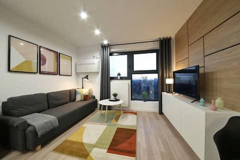 Modern lakás nagyszerű helyen