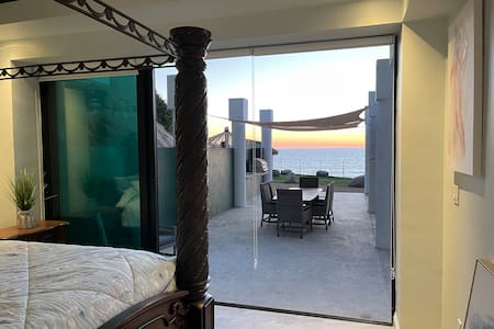 Both the bedroom and living room have double sliding glass doors, they slide to open to the left or right. Wide opening for wheelchairs.