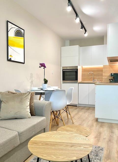 Apartamento luminoso y acogedor para 4 personas en el centro de la ciudad