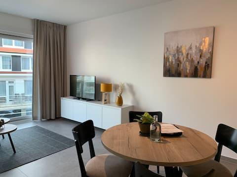 Jasny apartament w super lokalizacji w Knokke!