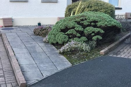 Access from car park for pathway to the apartment