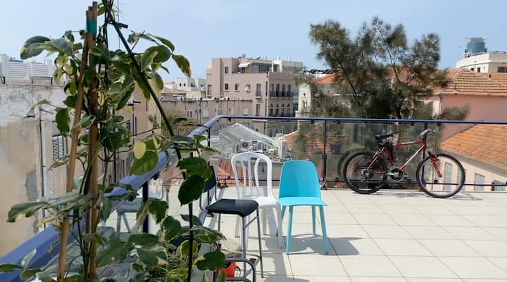 Gorgeos rooftop flat in the heart of Tel Aviv