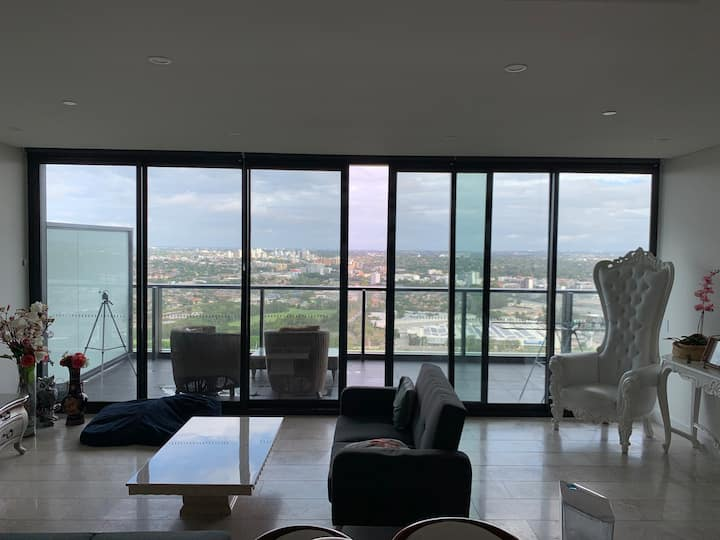 Penthouse suite private room with stunning views