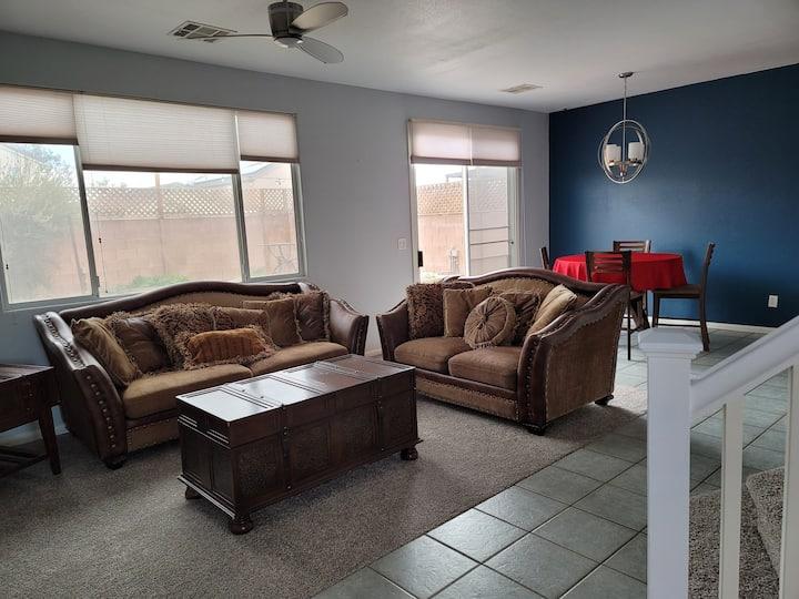 Clean, spacious, quiet 3-bedroom home