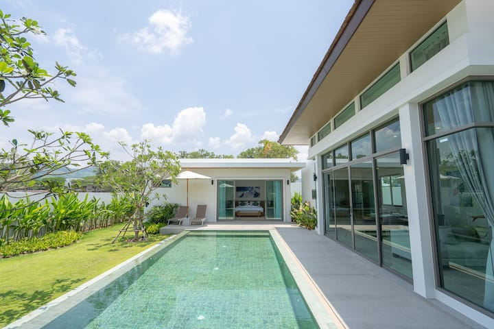 Modern 2-BR Garden Pool Villa on BEST location