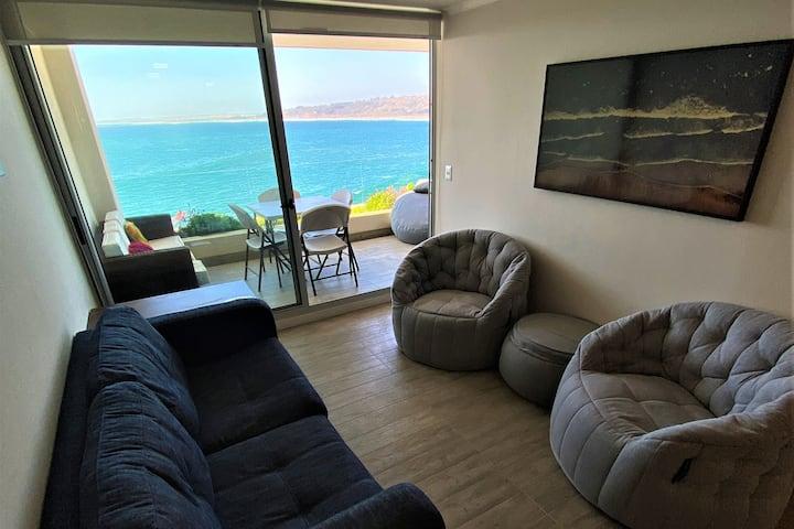 Vista completa Playa La Boca, dpto 2 dormitorios