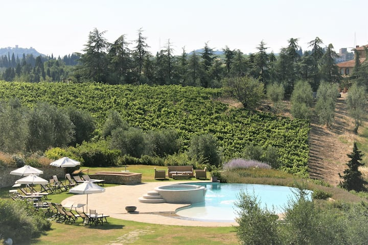 Sole del Chianti,  Holiday Villa  with 8 BDR