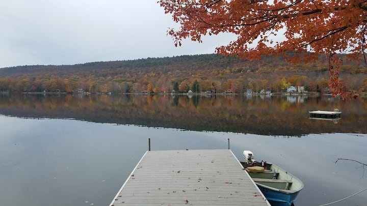 Luxury lakehouse on private lake 90 mins from NYC