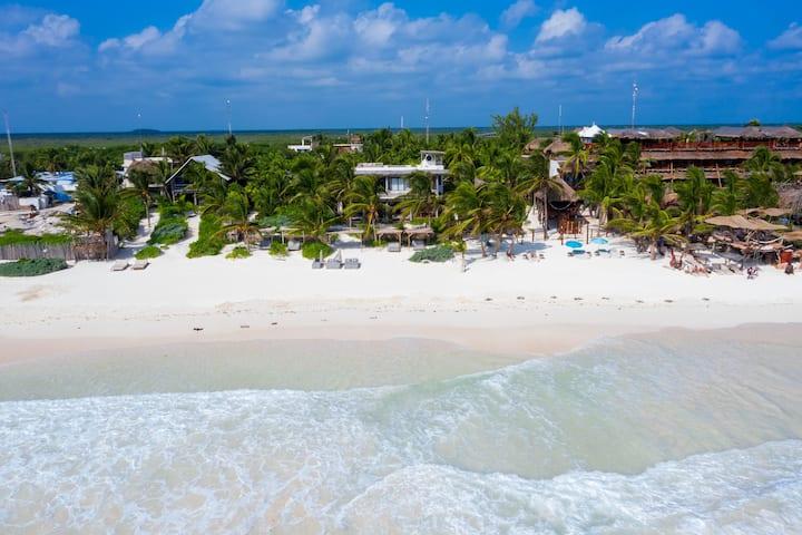 9 BR Beach Villa in the heart of Tulum Hotel Zone