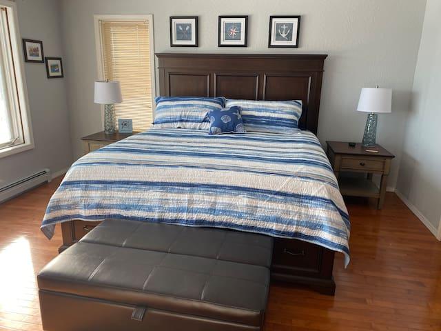 Main floor Master bedroom,  king size bed