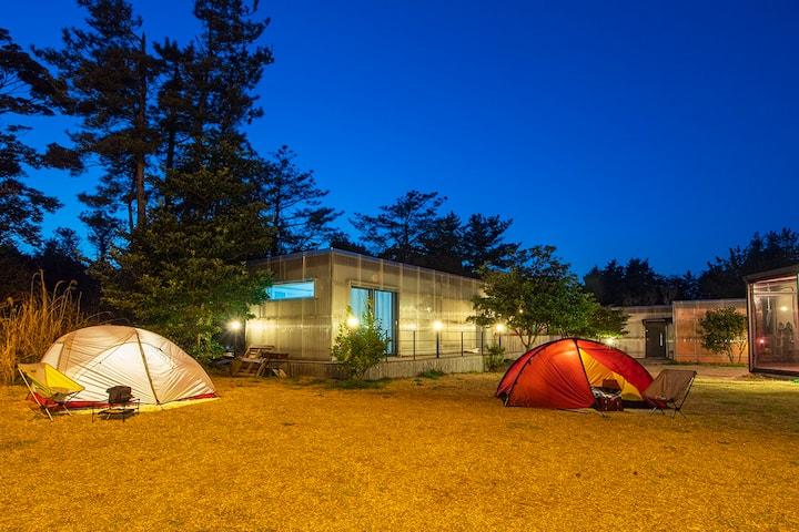 제주 친환경 소형목조주택(M2), 월정리해변, 비자림, 오름, 잔디마당, 캠핑