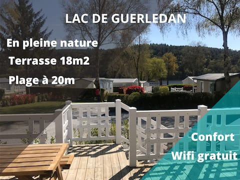 ❤  ACCES DIRECT AU LAC Chalet 35m2 tout confort