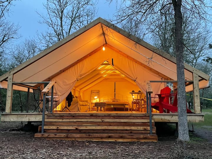 Glamping Lake Front NearAustin Family Couples FR#2