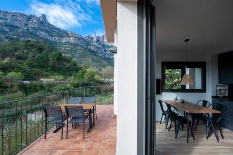 Apartamento Barretines, terraza con vistas