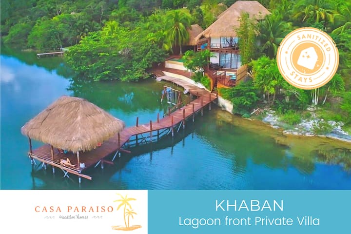 ☆KHABAN Lagoonfront Private Villa- Pier & Jacuzzi☆