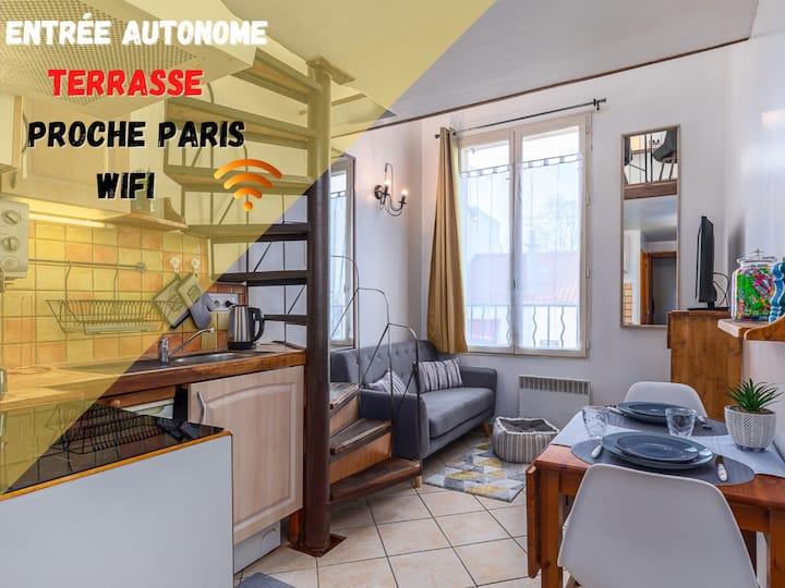 Duplex avec terrasse en hyper centre proche Paris