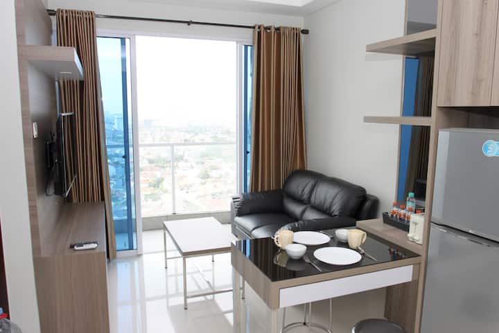 Cozy 2BR apartment at West Jakarta, Near Airport.