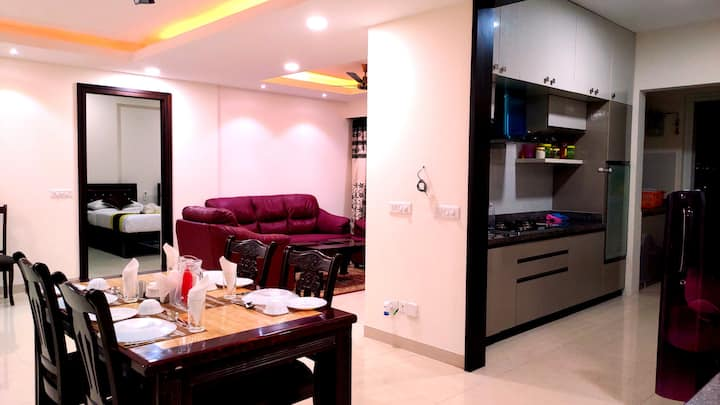 Entire 3 BHK Service Apartment Manyata Tech Park