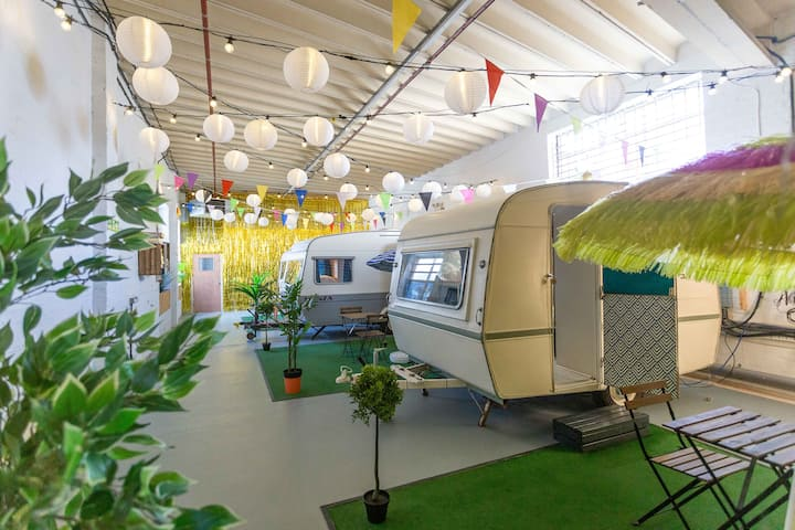 Indoor Campground for 6 Guests.