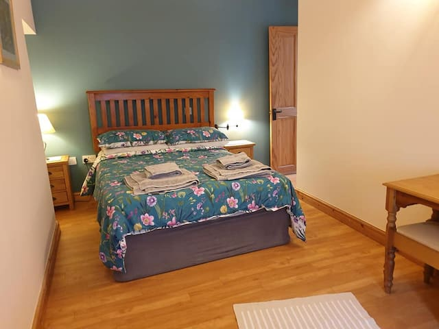 The double bedroom - different view, different bedding