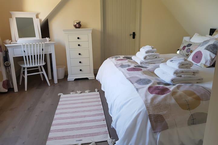 Comfortable bedroom area
