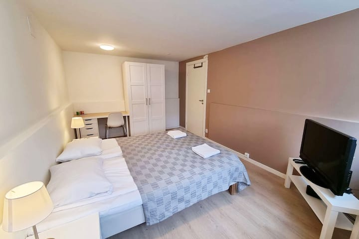 Spacious Private Room, Queen Bed, Close To Center