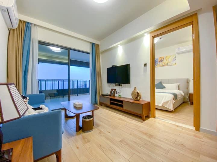 筑海边-海景落日/一房一厅套房/高层180度海景大床房