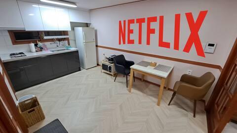에버 4.0 / 넷플릭스 / 거실 침실 분리  / 세탁실 / 베란다 / 청소비 없음