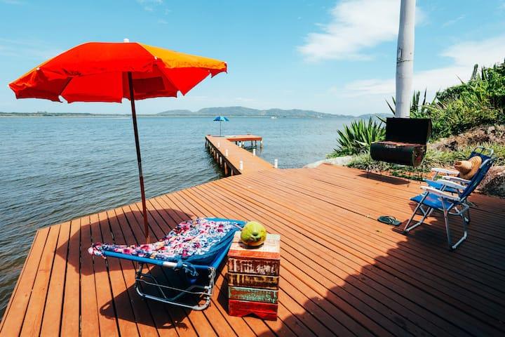 Engenho Casa na beira da Lagoa, Florianópolis
