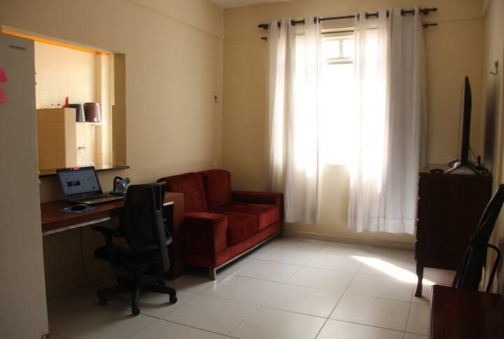 Apartamento confortável e a melhor localização.