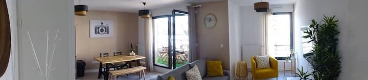 T2 neuf de 55 m² avec terrasse.