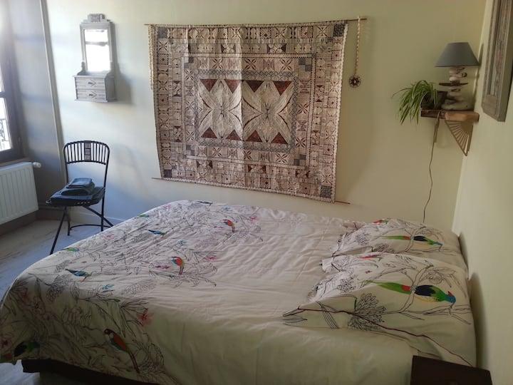 Jolie chambre dans maison atypique avec jardin.