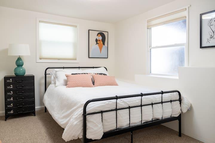 Bedroom 2, New Queen Memory Foam Mattress