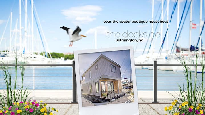 New modern over-the-water houseboat home..